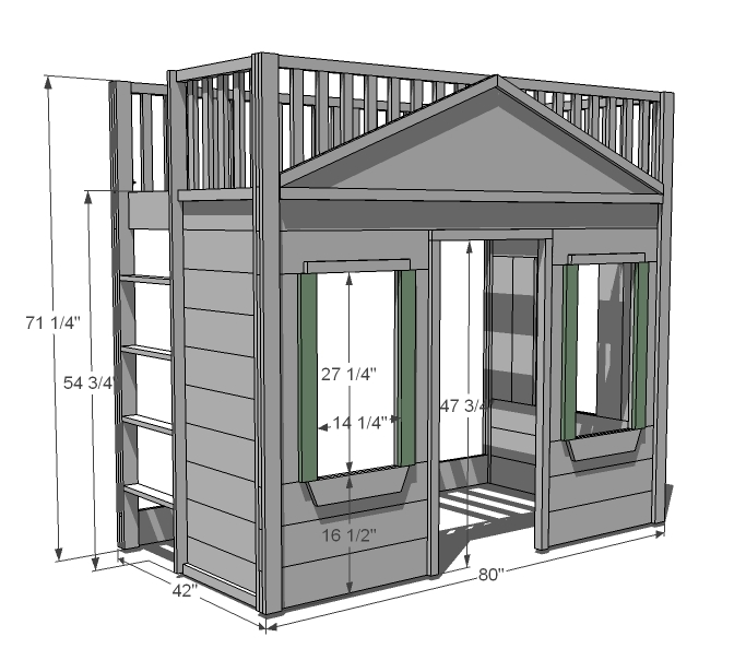 Plans For Built In Loft Bed Plansdownload