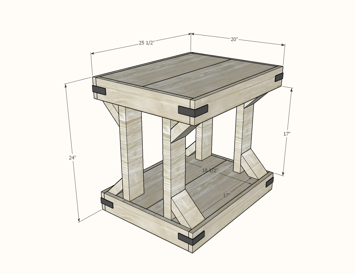 end table dimensions