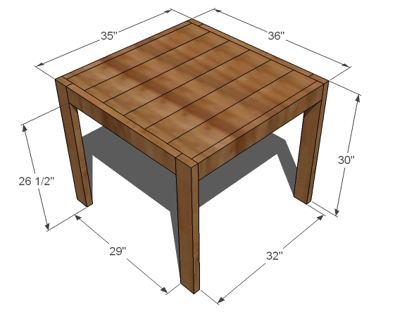 Pdf diy square farmhouse dining table plans download spice How to build a farmhouse