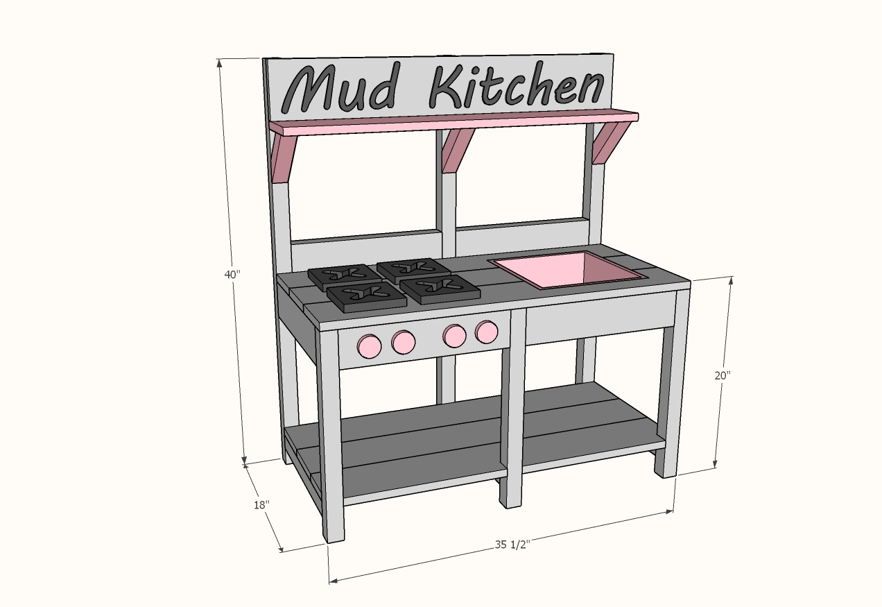 mud kitchen dimensions