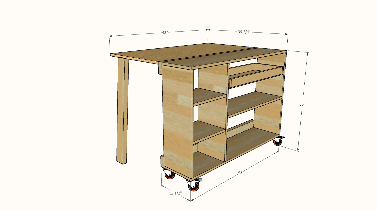 folding workbench dimensions