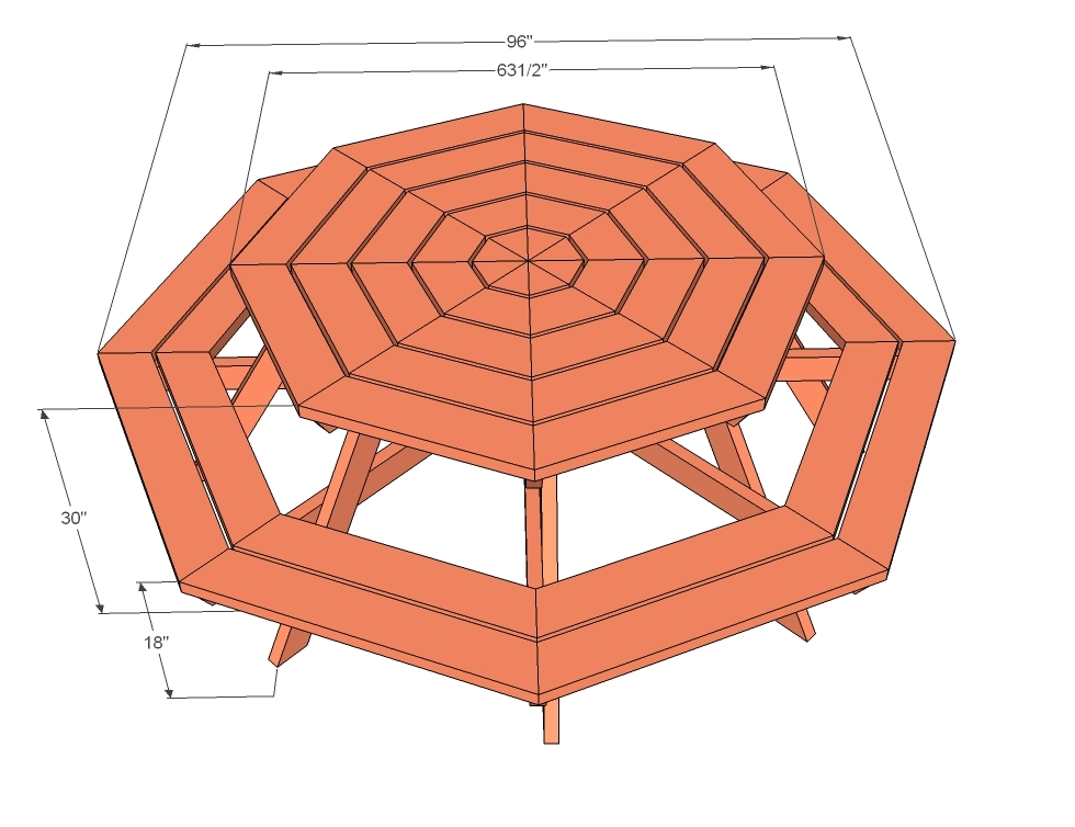 How To Build A Large Octagon Picnic Table