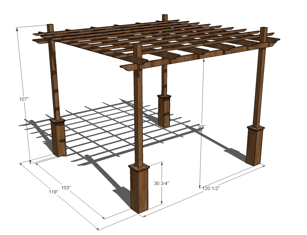 pergola plans measurements