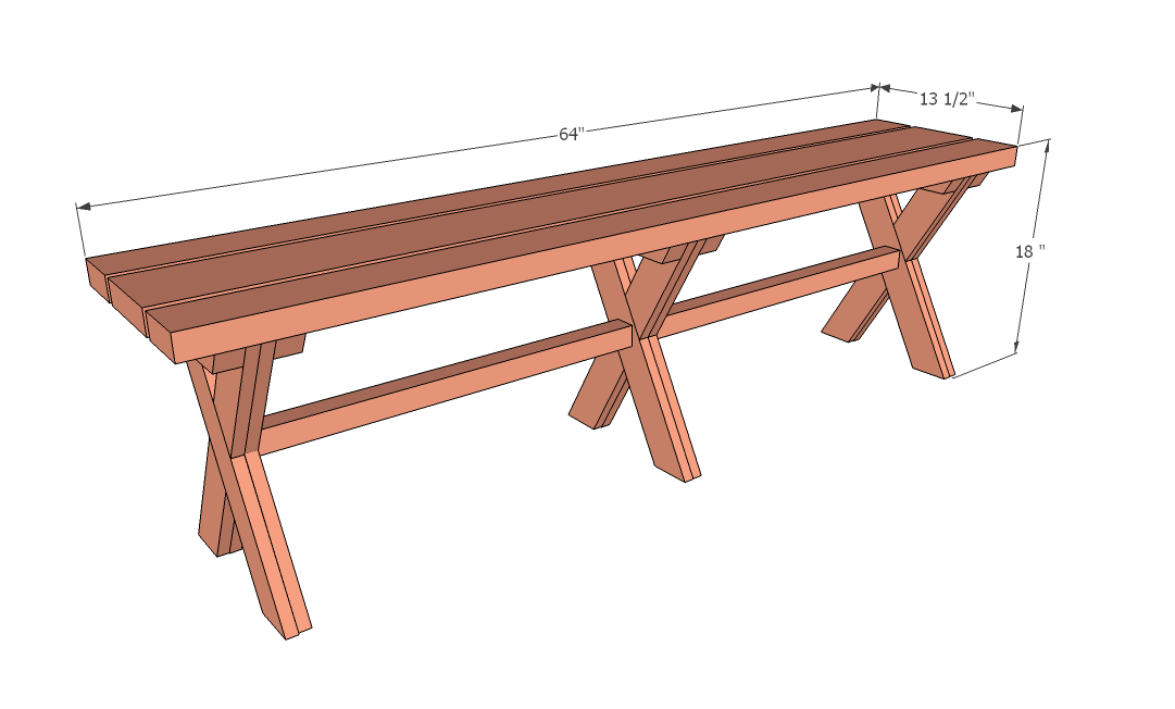 ... - it differs from Ashley's bench to fit under Vanessa's picnic table