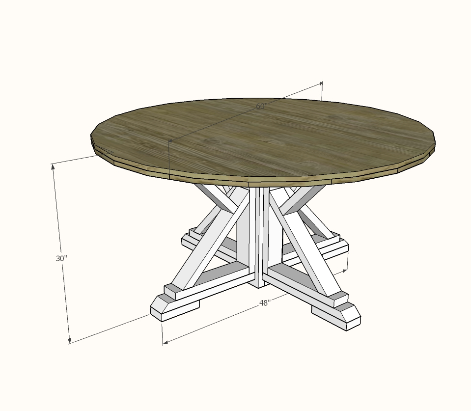 diy round dining table top tutorial