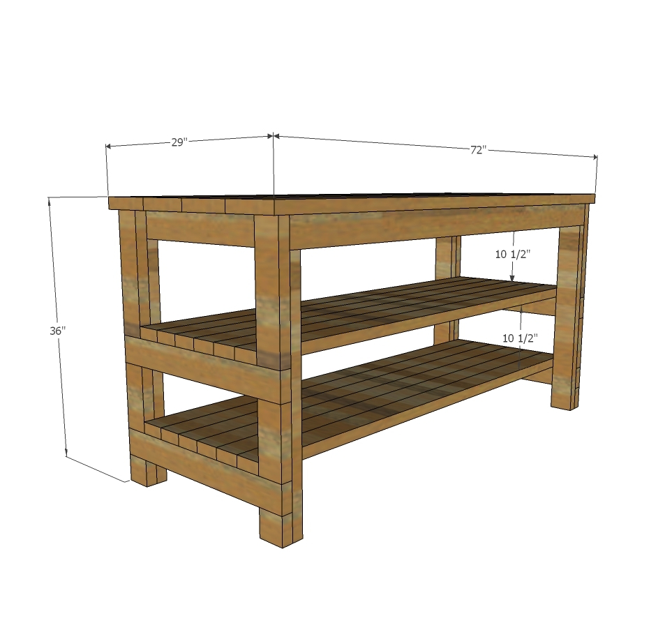 Rustic Kitchen Island Built By House Food Baby Ana White