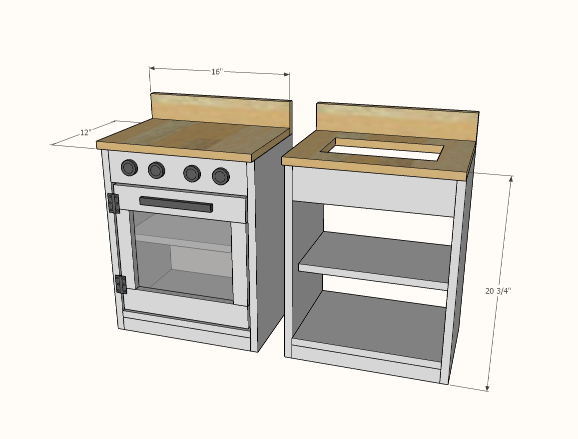 play kitchen plans dimensions