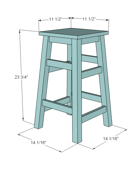 Dimensions are shown above. Stool is suitable for counter height (NOT