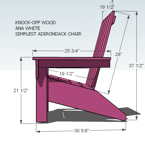 how to build an adirondack chair easy