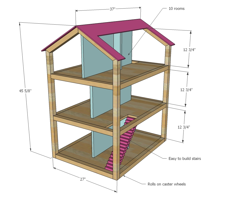 Big Doll House Blueprints