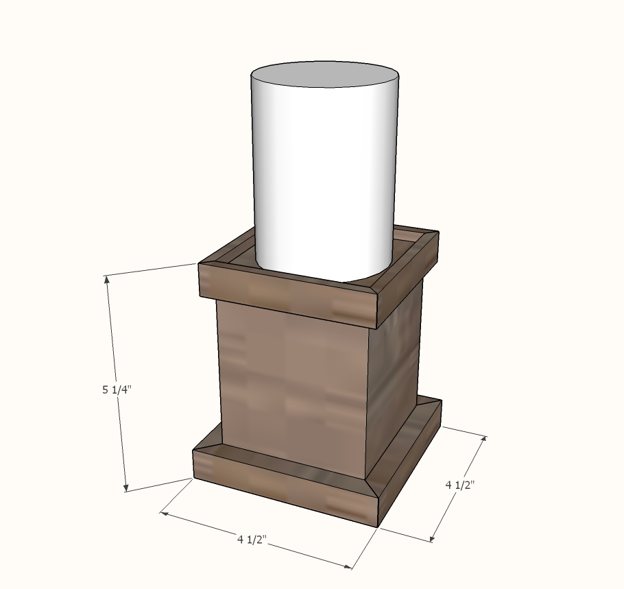 wooden candle pillar