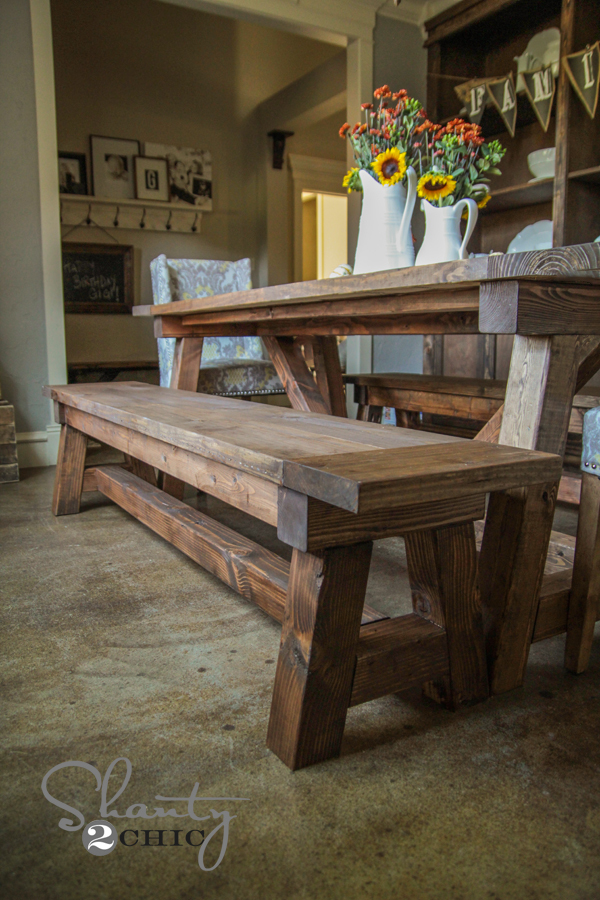 farm table benches