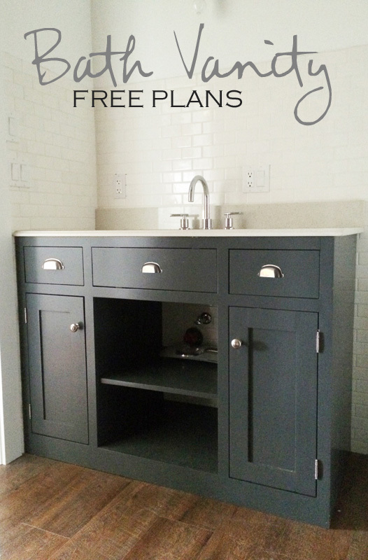 dark grey bathroom vanity plans