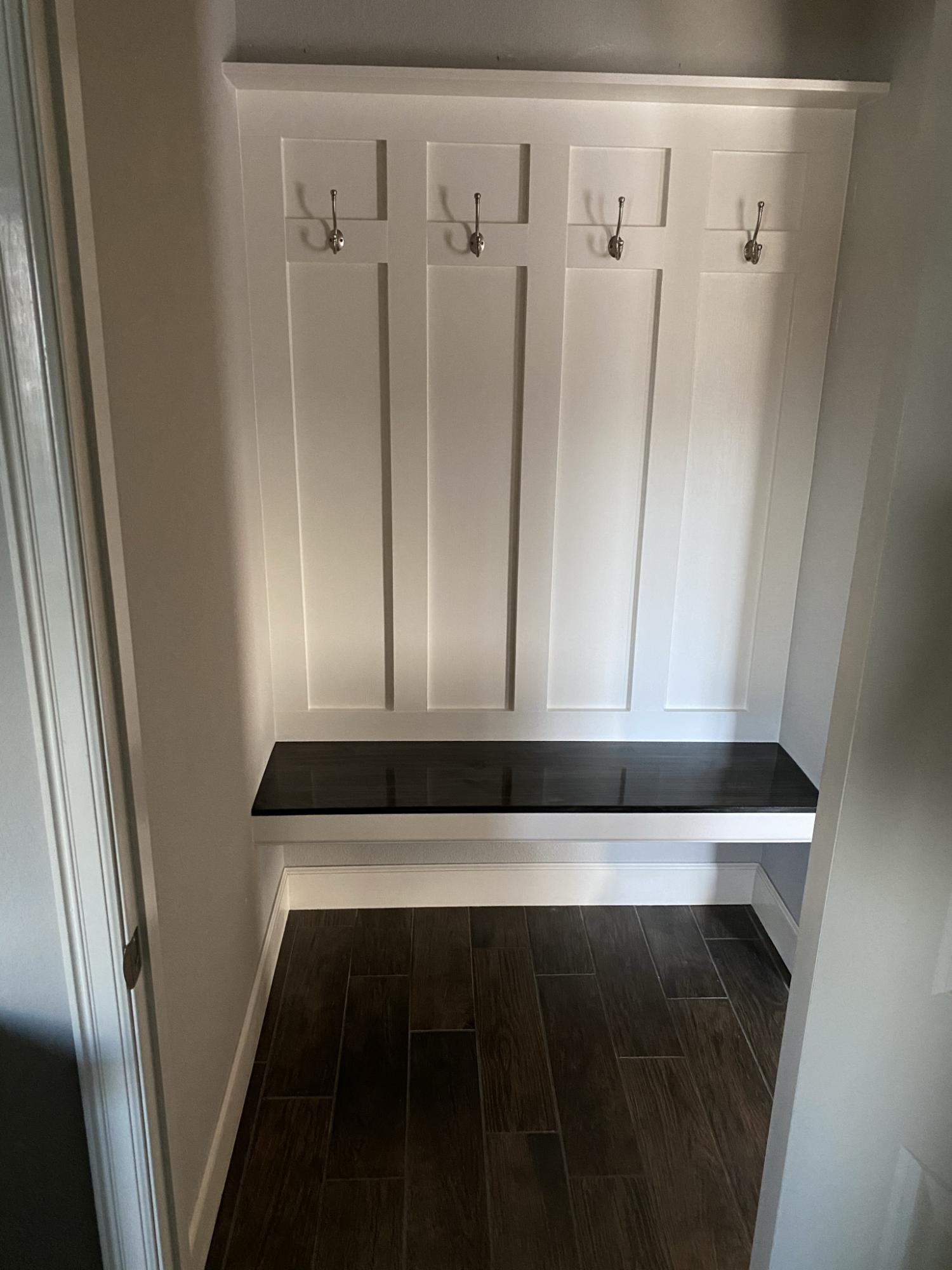 mudroom bench floating