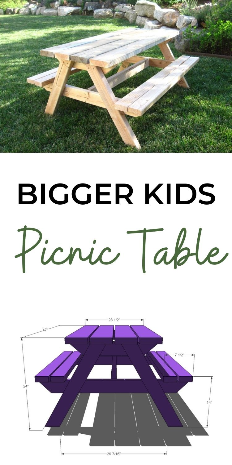 Picnic Table for Bigger Kids