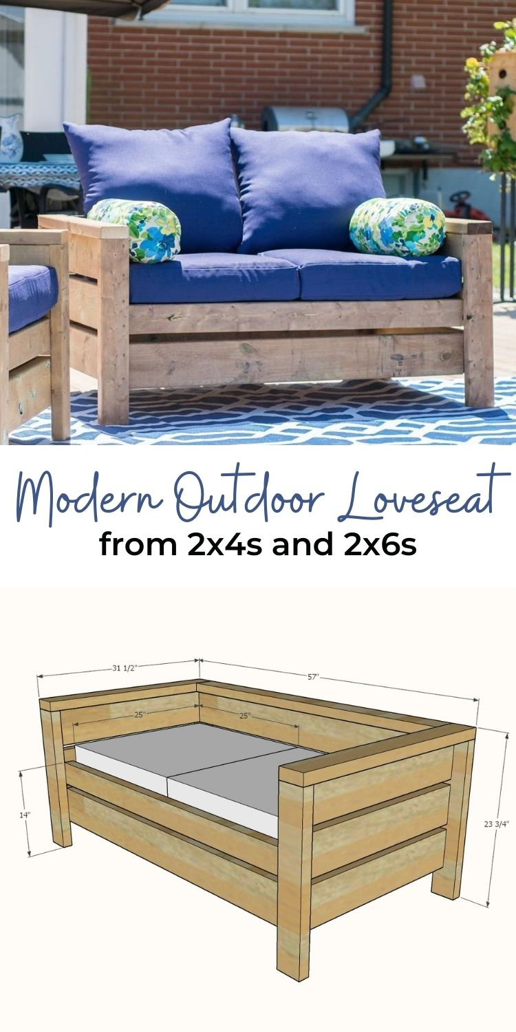 Modern Outdoor Loveseat