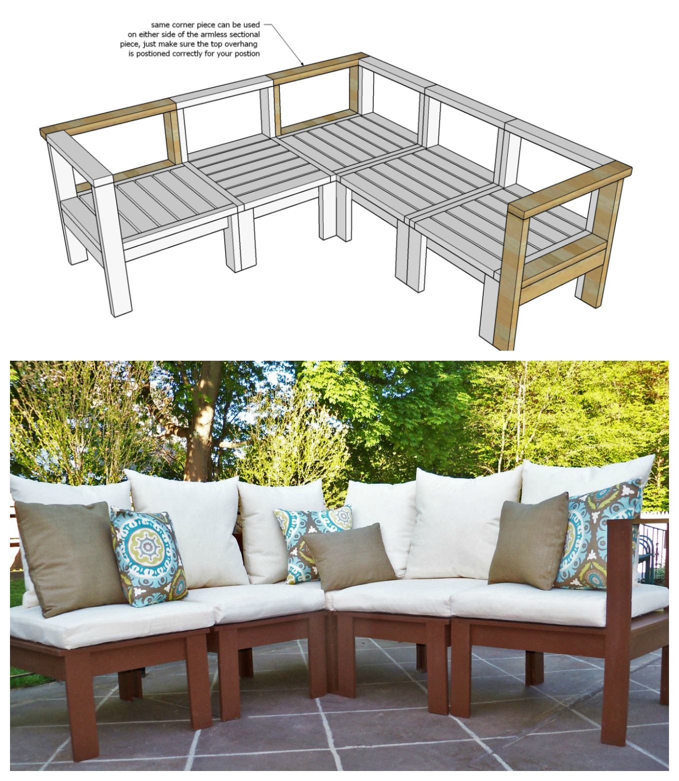 ana white plans outdoor sectional