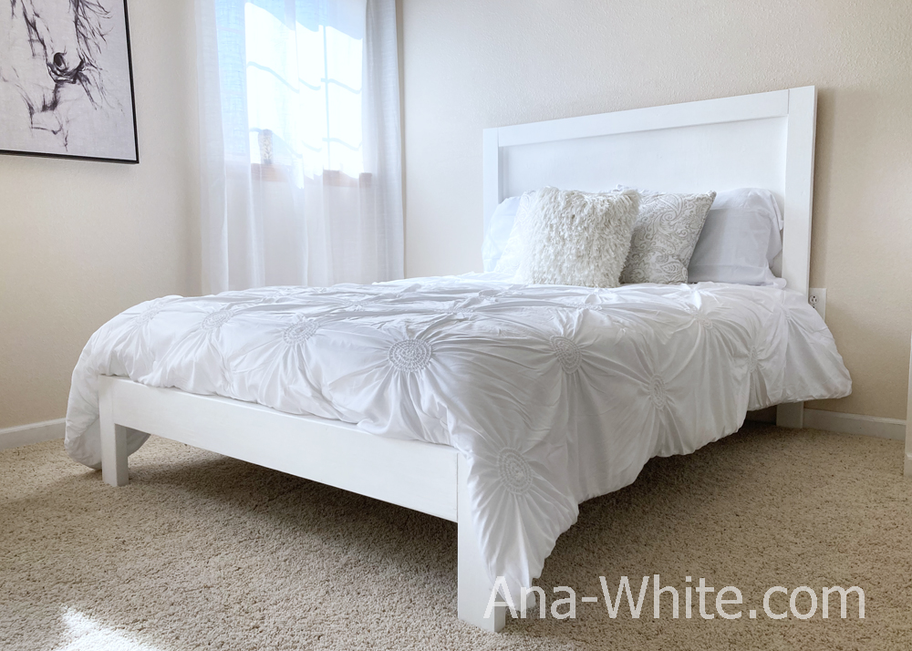 white bed frame