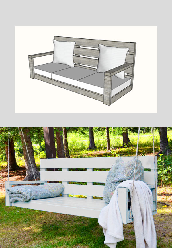 large porch swing bed plans