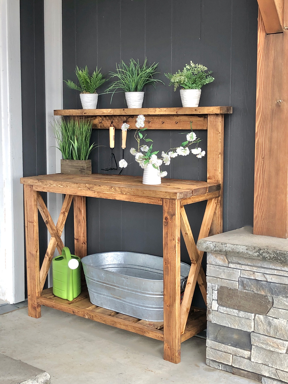 farmhouse potting bench