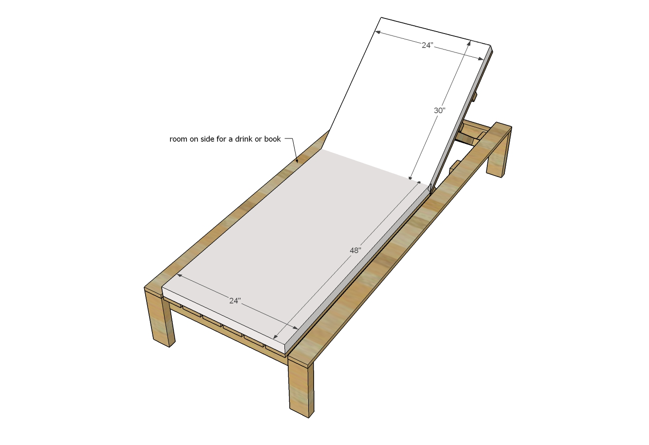 - Modern Single Outdoor Chaise Lounge Ana White