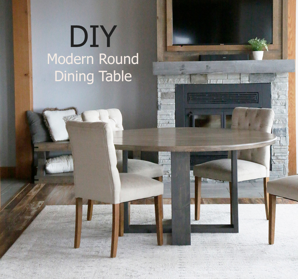 diy modern round dining table