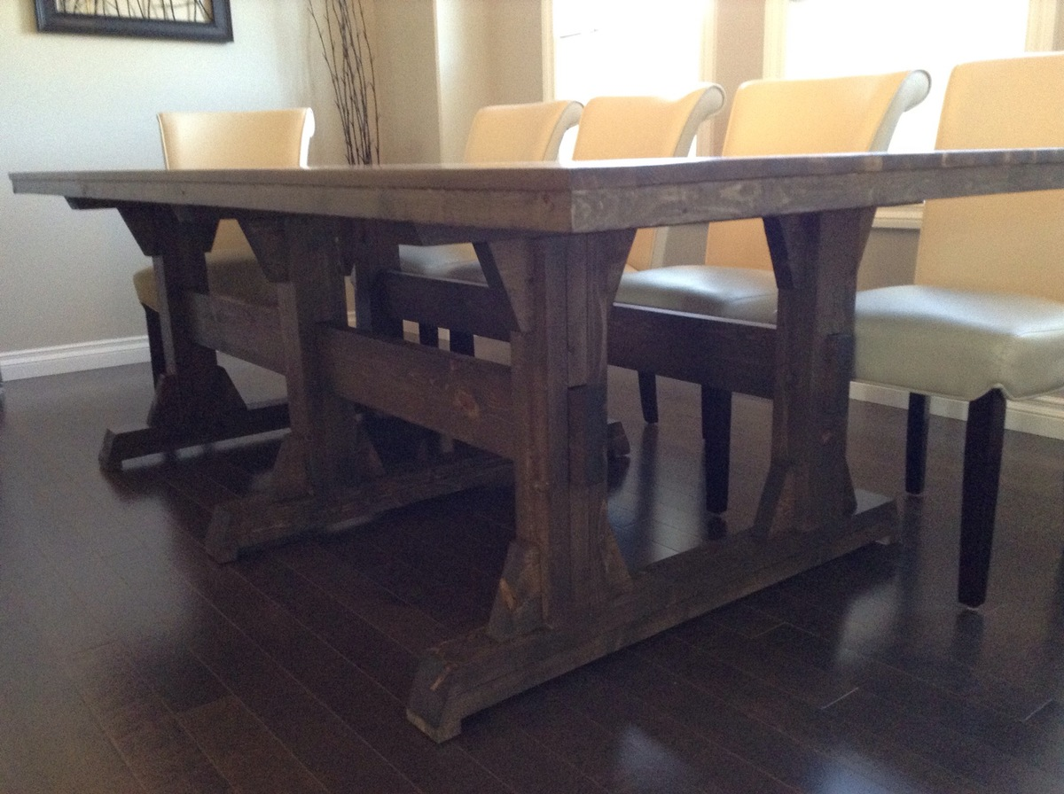 rustic dining table extra large