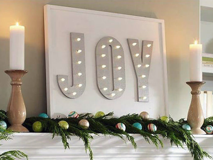 Home Depot Illuminated Canvas : Ana white joy marquee sign from home depot dih workshop