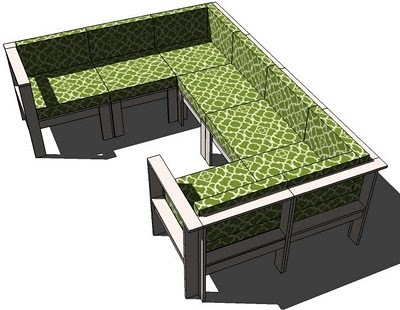 Diy outdoor sectional ana white