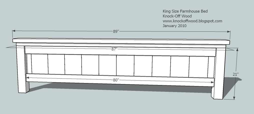 king bed woodworking plans