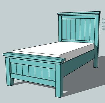 Two Crafty Girls Farmhouse Style Twin Bed Or As We Call