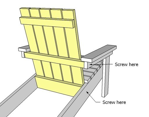 Pattern For Child Adirondack Chair