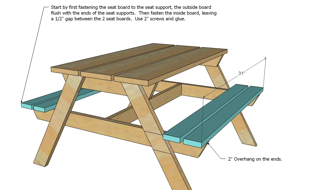 How To Build Kids Picnic Table Plans DIY Free Download arbor swing ...