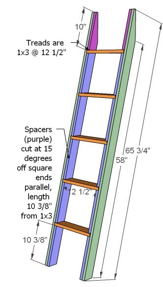 loft bed ladder plans