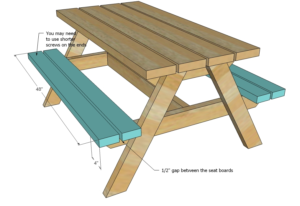 Ana White | Build a Bigger Kid's Picnic Table - DIY Projects