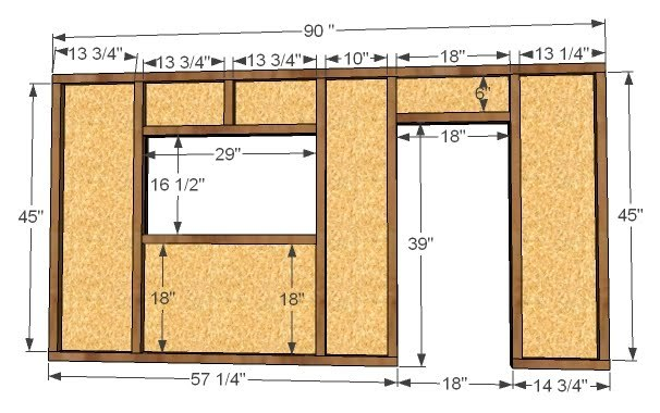 step 1 stud framing frame your wall as shown above