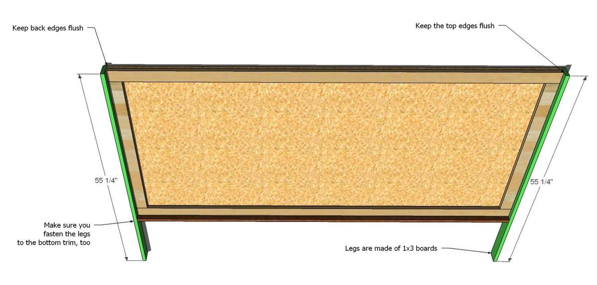 how to build a king size headboard