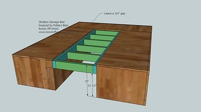 Woodworking Plan: how to make a queen platform bed with storage