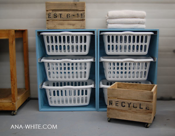Ana White | Build a Laundry Basket Dresser | Free and Easy DIY ...