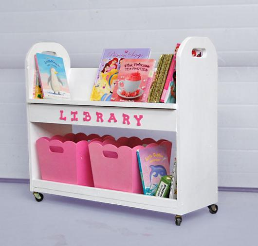 Ana white library book cart diy projects for Kids book storage diy