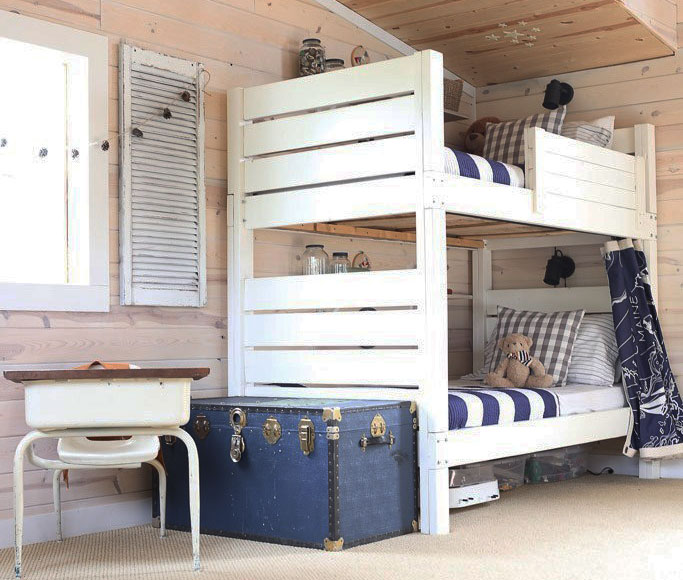 modern bunk bed land of nod addison