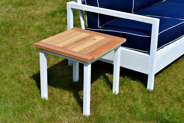Ana White | Simple White Outdoor End Table - DIY Projects