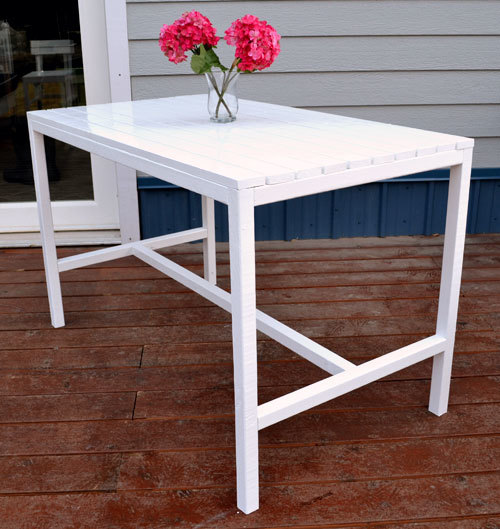 Ana White Harriet Outdoor Dining Table For Small Spaces