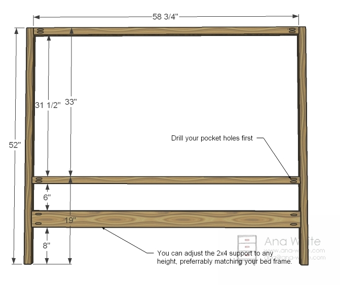 Queen Bed Frame And Headboard Plans