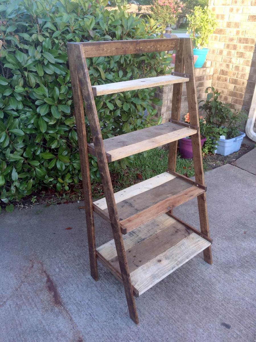 Pallet Wood Painter S Ladder Shelf Ana White