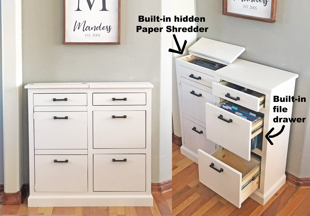 The Mail Boss Ana White, Wooden File Cabinet Plans