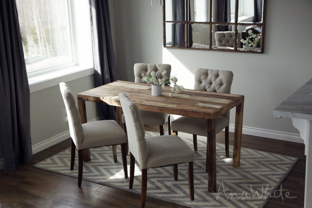 Ana White | Emmerson Parsons Table - Modern Reclaimed Wood Dining ...