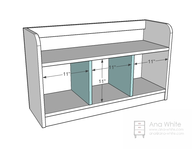 Build An Entryway Storage Bench With Cubby Holes Html - Houses Plans ...