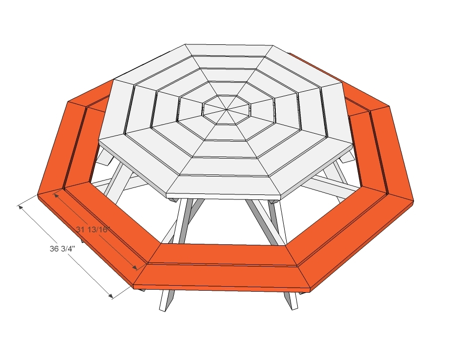 Free Octagon Shaped Picnic Table Plans