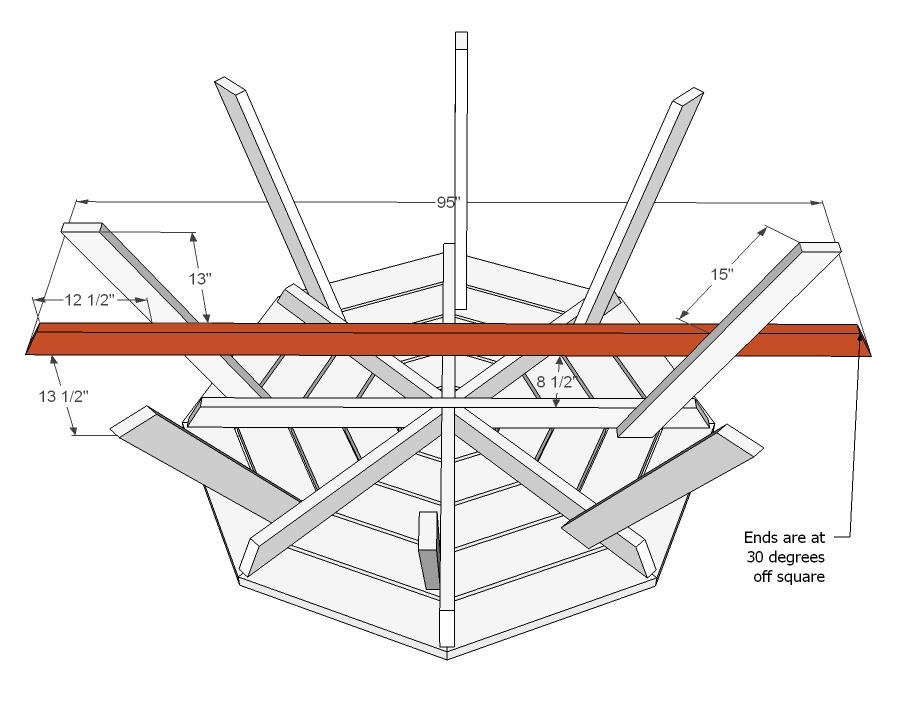 6 sided picnic table plans